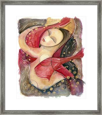 Circle Dancer Framed Print by Jen Norton