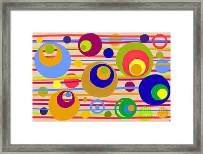 Circle Fun Framed Print by Anita Lewis