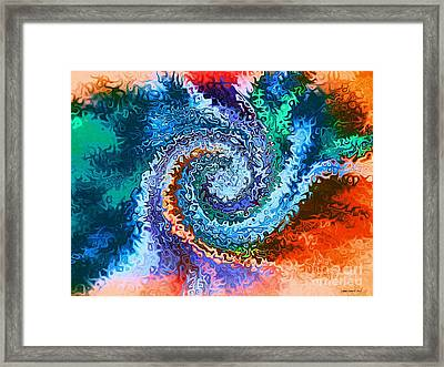 Circle Of Colors Abstract Art Framed Print by Annie Zeno