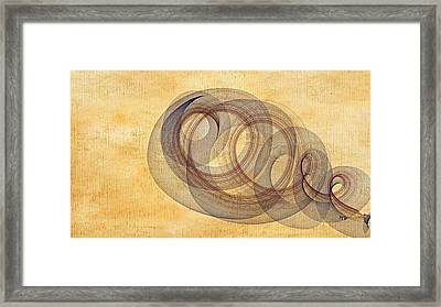 Circle Of Life Framed Print by Marian Palucci-Lonzetta