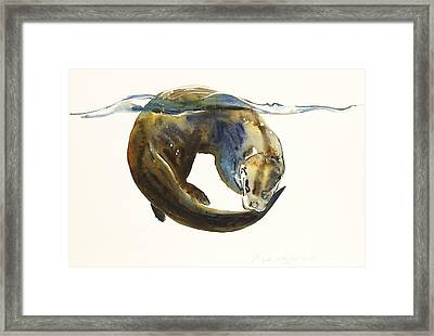 Circle Of Life Framed Print by Mark Adlington
