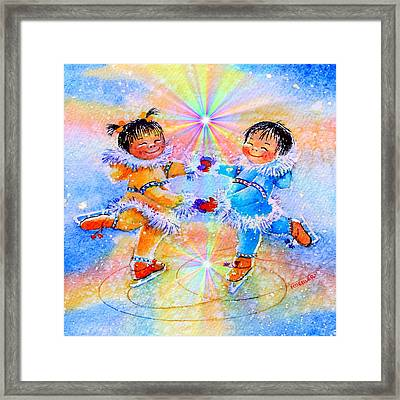 Circle Of Love Framed Print by Hanne Lore Koehler