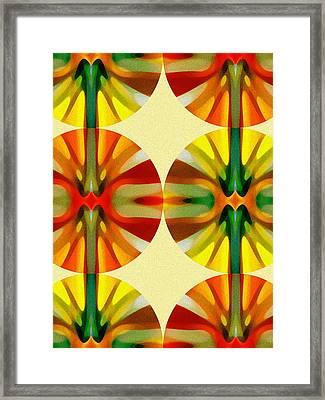 Circle Pattern 3 Framed Print by Amy Vangsgard