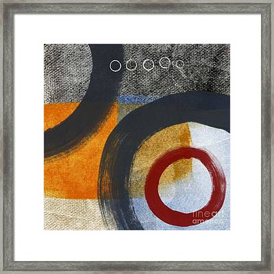 Circles 3 Framed Print by Linda Woods