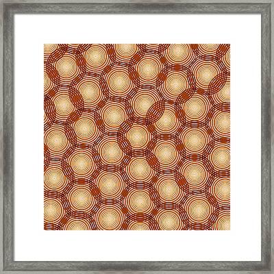 Circles Abstract Framed Print by Frank Tschakert
