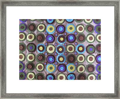 Circles And Dots Framed Print by Cherie Sexsmith
