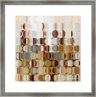 Circles And Squares 36. Modern Abstract Fine Art Framed Print by Mark Lawrence