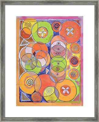 Circles Within Circles Framed Print by Mandy Simpson