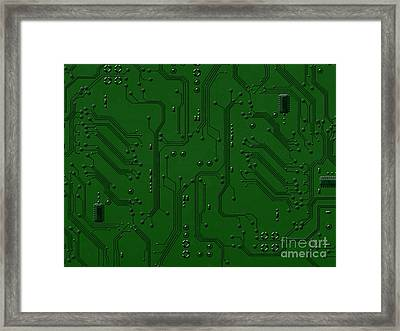 Circuit Board Framed Print by Bedros Awak