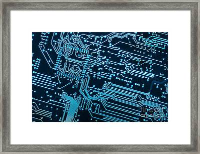 Circuit Board Framed Print by Carlos Caetano