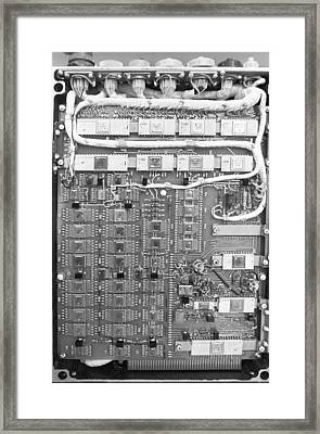 Circuit Board From Phobos Probe Framed Print by Science Photo Library