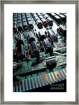 Circuit Board Framed Print by Jerry McElroy