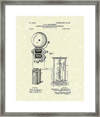 Circuit Control 1903 Patent Art Framed Print by Prior Art Design
