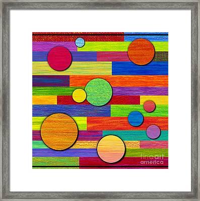 Circular Bystanders  Framed Print by David K Small