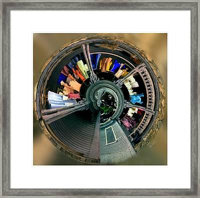 Circular Washline Squared Framed Print by Wayne King