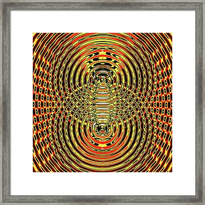 Circular Wave Interference Framed Print by Russell Kightley