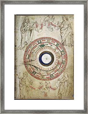 Circular Zodiacal Lunar Scheme Framed Print by British Library