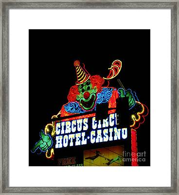 Circus Circus Sign Vegas Framed Print by John Malone