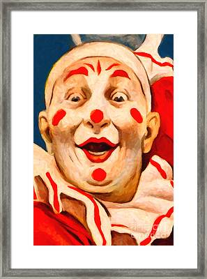 Circus Clown - 2012-1230 - Painterly Framed Print by Wingsdomain Art and Photography