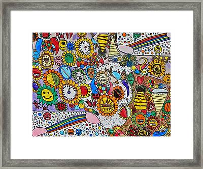 Circus For Linda Framed Print by Brandon Drucker
