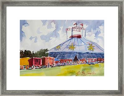 Circus Hall Of Fame Framed Print by JULES Buffington