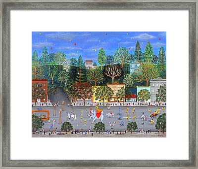 Circus Parade Two Framed Print by Linda Mears