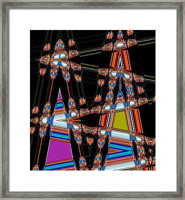 Circus Time Double Triangles Framed Print by Marian Bell
