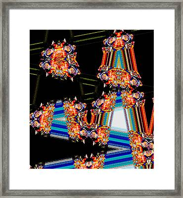 Circus Time Makes Waves Framed Print by Marian Bell