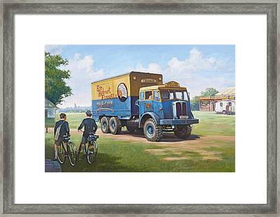 Circus Truck Framed Print by Mike  Jeffries