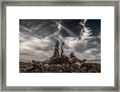 Cirrus Clouds At Sunset  Framed Print by Marc Crumpler