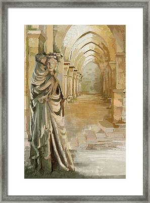 Cistercian Abbey Of Fontenay Framed Print by Catf