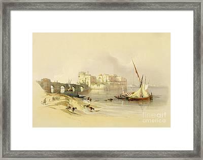 Citadel Of Sidon Framed Print by David Roberts