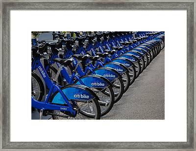 Citi Bikes  Framed Print by Susan Candelario