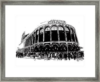Citi Field - New York Mets Framed Print by Rob Monte