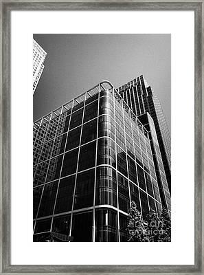 citigroup centre 33 and 25 canada square canary wharf London England UK Framed Print by Joe Fox