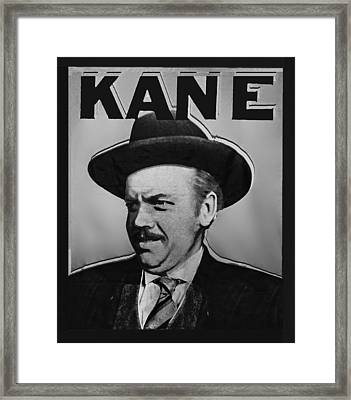 Citizen Kane Orson Welles Campaign Poster B And W Framed Print by Tony Rubino