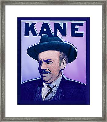 Citizen Kane Orson Welles Campaign Poster Framed Print by Tony Rubino