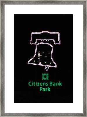 Citizens Bank Park Home Run Framed Print by Lisa Phillips