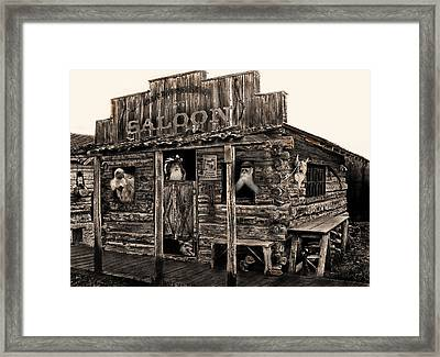 Citizens Of Dirty Creek Framed Print by Terril Heilman