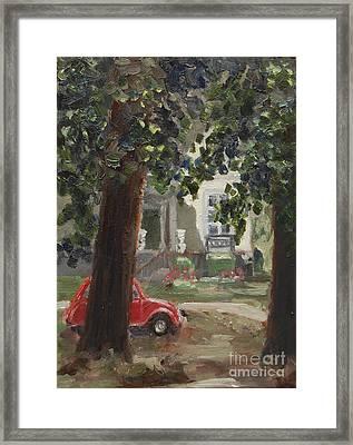 Citroen 2cv And Marialust Apeldoorn Framed Print by Ernst Dingemans