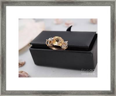 Citron Gemstone Ring Framed Print by Vivian Martin