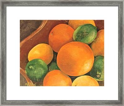 Citrus Pearls 3 Framed Print by Joy Petty