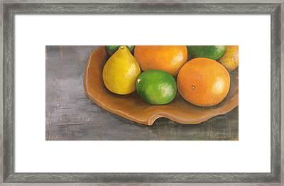 Citrus Pearls Framed Print by Joy Petty