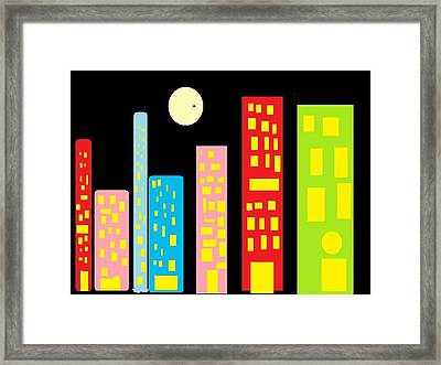 City 23 Framed Print by Ronald Weatherford