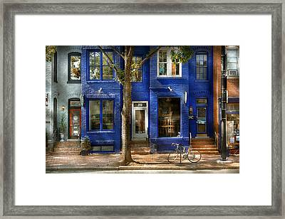 City - Alexandria Va -  Bike - The Urbs Framed Print by Mike Savad