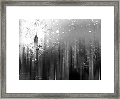 City-art Ny Manhattan Framed Print by Melanie Viola