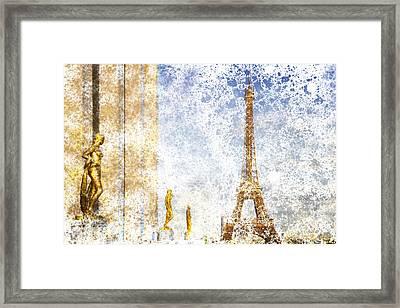 City-art Paris Eiffel Tower Framed Print by Melanie Viola