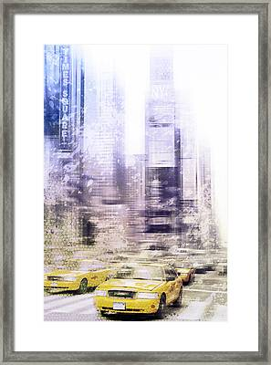 City-art Times Square I Framed Print by Melanie Viola