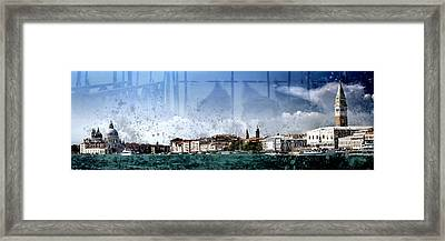 City-art Venice Panoramic Framed Print by Melanie Viola