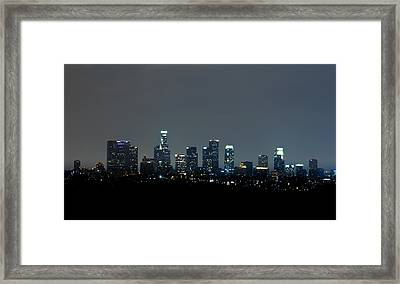 City At Night Framed Print by Andrew Raby